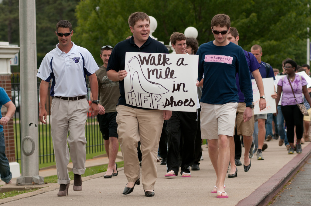 Walk a mile in her shoes participants