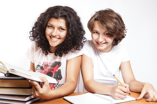 Image of two college students